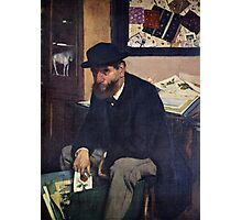 Edgar Degas French Impressionism Oil Painting Man Sitting Photographic Print