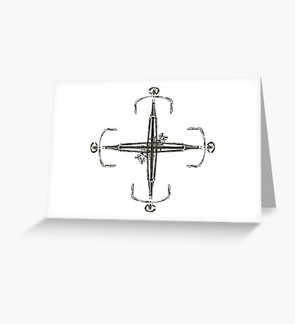 fixie 4 motion Greeting Card