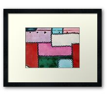 Stitches and Rivets  Framed Print