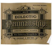 The New Eclectic Penmanship Primer, 1883 Poster