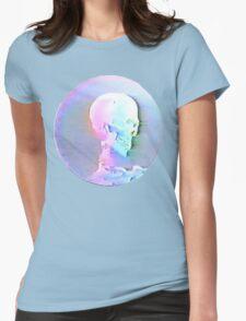 Vaporwave Skull Womens Fitted T-Shirt