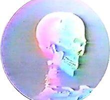 Vaporwave Skull by TameImpalarulez