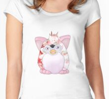 Furby Pink Crystal Women's Fitted Scoop T-Shirt
