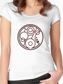 Geronimo Circular Gallifreyan Women's Fitted Scoop T-Shirt