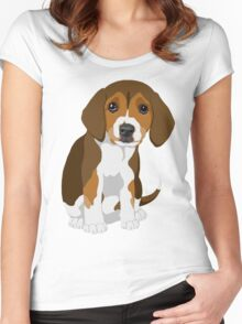 Beagle Pup Women's Fitted Scoop T-Shirt