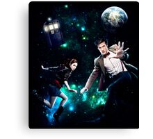 Amy and The Doctor in Space Canvas Print