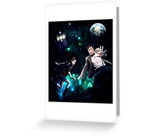 Amy and The Doctor in Space Greeting Card