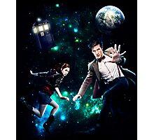 Amy and The Doctor in Space Photographic Print