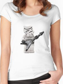 STORMTROOPERS ROCK YOU STAR WARS Women's Fitted Scoop T-Shirt