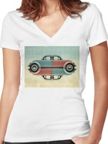 vw all fronts 02 Women's Fitted V-Neck T-Shirt