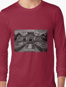 Hatley Castle Black And White Vintage Photo Long Sleeve T-Shirt