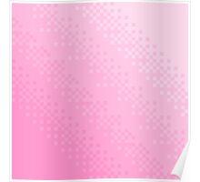 Pink Pixel Wave Poster