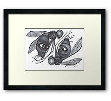 Psychic Fly's Framed Print