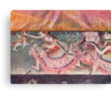 Edgar Degas French Impressionism Oil Painting Ballerinas Performing Canvas Print