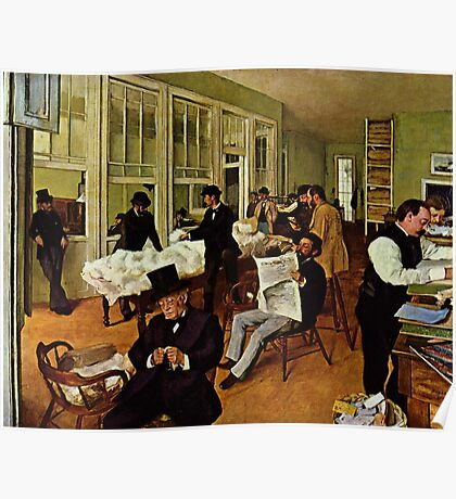 Edgar Degas French Impressionism Oil Painting Men Working Poster