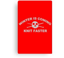 knitters knit funny nerd geek geeky Canvas Print