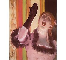 Edgar Degas French Impressionism Oil Painting Woman Singing Photographic Print