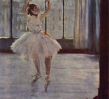 Edgar Degas French Impressionism Oil Painting Ballerina Practicing by jnniepce