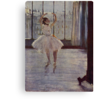 Edgar Degas French Impressionism Oil Painting Ballerina Practicing Canvas Print