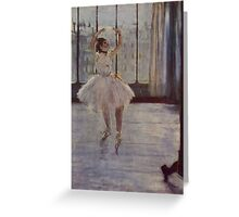 Edgar Degas French Impressionism Oil Painting Ballerina Practicing Greeting Card