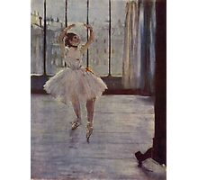 Edgar Degas French Impressionism Oil Painting Ballerina Practicing Photographic Print