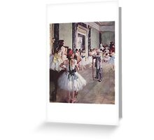 Edgar Degas French Impressionism Oil Painting Ballerinas Rehearsing Greeting Card