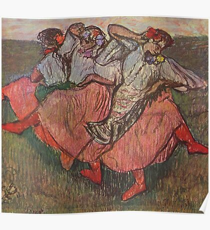 Edgar Degas French Impressionism Oil Painting Women Dancing Poster