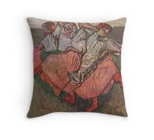 Edgar Degas French Impressionism Oil Painting Women Dancing Throw Pillow