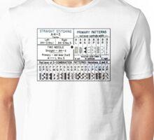 Sewing Machine Stitch Settings Unisex T-Shirt