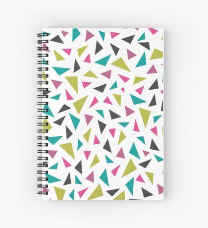Geometric Rainfall Spiral Notebook