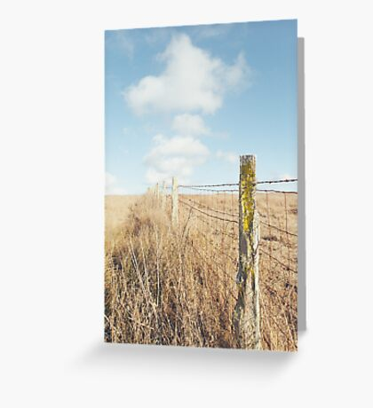 Rustic Fence Greeting Card