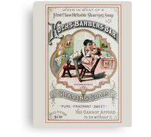 Vintage Barber Shop Advertisement Canvas Print