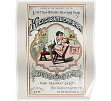 Vintage Barber Shop Advertisement Poster