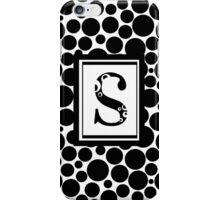 Black & White Bubble S iPhone Case/Skin