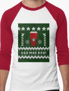 Parody - Starbucks Cup - Ugly Christmas Sweater Men's Baseball ¾ T-Shirt