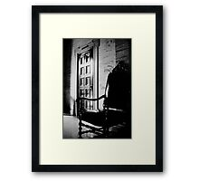 Leather Chair on Marble Framed Print