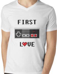 First Love Gaming T Shirt Mens V-Neck T-Shirt