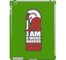 Word Warriors unite! (green) iPad Case/Skin