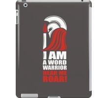 Word Warriors unite! (grey) iPad Case/Skin
