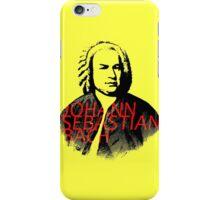 Johann Sebastian Bach vibrant portrait and text iPhone Case/Skin