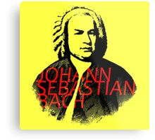Johann Sebastian Bach vibrant portrait and text Metal Print