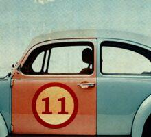 vw beatle number 11 Sticker