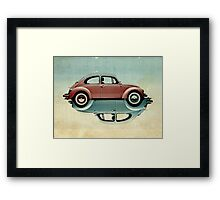 vw ying and yang Framed Print
