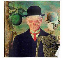 Ceci n'est pas une pomme Monsieur Bone Poster