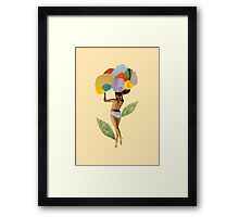i walk out in the flowers and feel better Framed Print