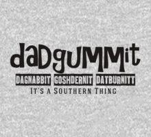 Dadgummit Southern Cuss Words by marceejean