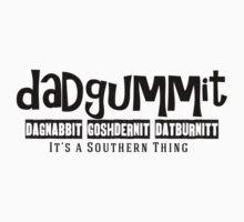 Dadgummit Southern Cuss Words Kids Tee