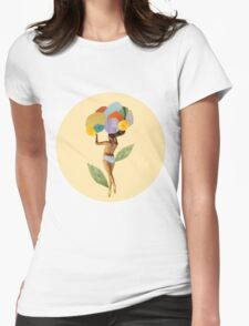 i walk out in the flowers and feel better Womens Fitted T-Shirt