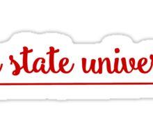 Iowa State University Arrow in Cardinal Sticker