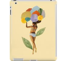 i walk out in the flowers and feel better iPad Case/Skin